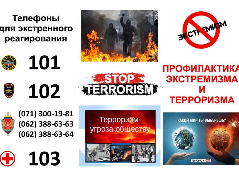 Профилактика терроризма