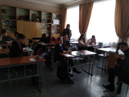 Урок литературы по творчеству А.С. Пушкина в 9-А классе