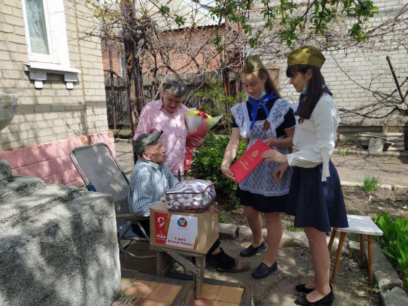 В Центрально-Городском районе Горловки поздравили ветеранов ВОВ с Днем Победы