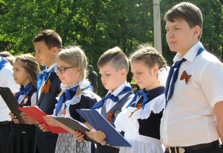 Торжественный митинг в сквере им. Советской Армии ко Дню Победы 07 мая 2019 года